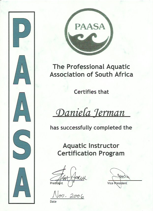 Daniela Certificates 5